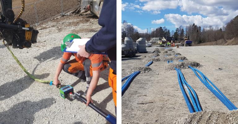 Rør i rør-system fra Hallingplast fungerer godt i Asker kommune