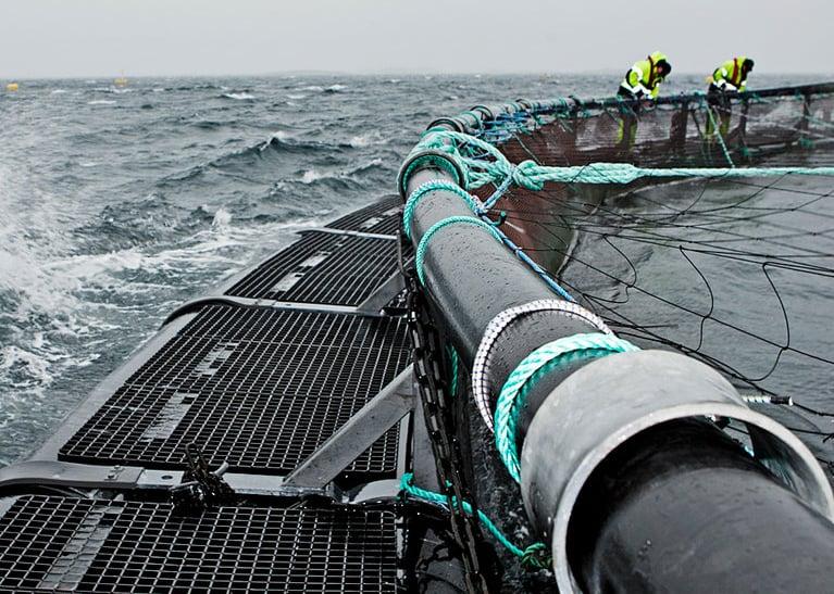 Fiskeoppdrett av Hallingplast
