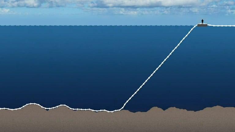 Årdal illustrasjon av senking av rør på dypt vann
