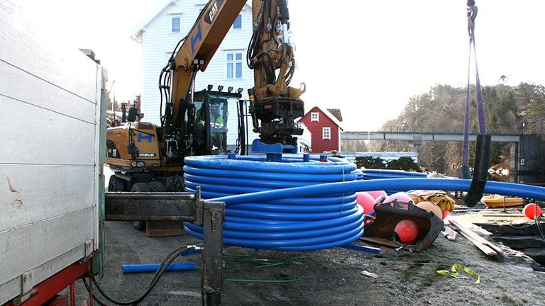 Lindås og montering av 90mm SESU-pipe i rekordfart
